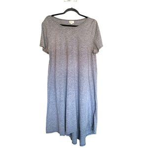 LulaRoe Heathered Striped Blue Carly sz XL